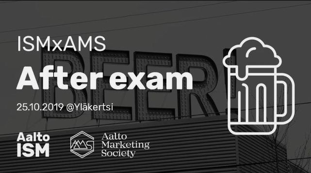 Aalto ISM x AMS After Exam
