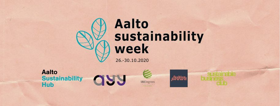 Aalto sustainability week banner with logos
